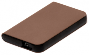 brown external hard drive